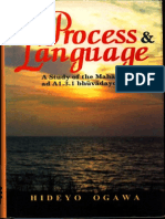 Process and Language a Study of the Mahabhashya - Hideyo Ogawa