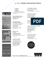 Duke University Press program ad for the American Political Science Association conference 2014