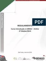 Regulamento Introducao Libras Online 2ed