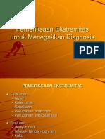 Pemeriksaan Ekstremitas Untuk Menegakkan Diagnosis