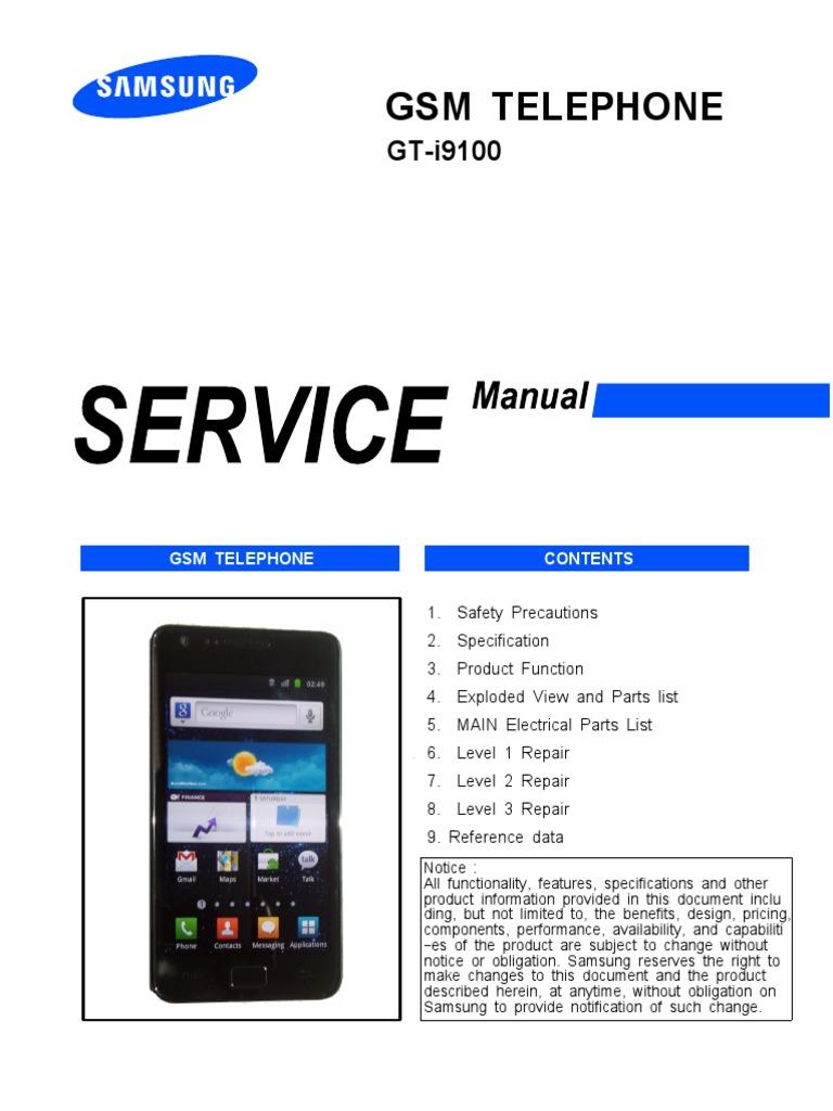 samsung gt i9100 service manual electrostatic discharge electronics rh es scribd com samsung galaxy s2 (gt-i9100) service manual samsung gt 19100 manual
