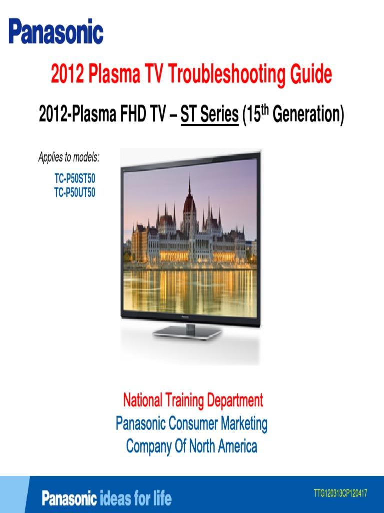 Panasonic 2012 PDP Troubleshooting Guide ST50 ST Series [TM