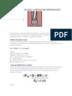Hidraulica Aplicada a Mechas de Perforacion