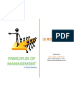 Principles of Management - Question Bank
