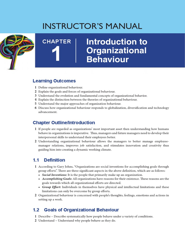 what are the goals of organizational behavior