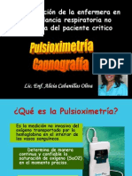 Monitoreo No Invasivo Pulsioximetria