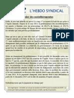 54. l'Hebdo Syndical 3 Juin 2014