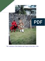 The Celebration of the Diablitos and Congos in Porto Belo