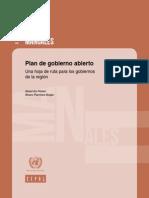Plan de Gobierno Abierto, Una Hoja de Ruta Para Los Gobiernos de La Región