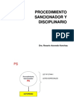 Sancionador y Displinario