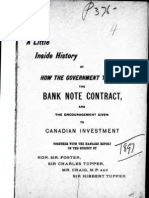 A Little Inside History of How the Government Treated the Bank Note Contract 1897 Canada