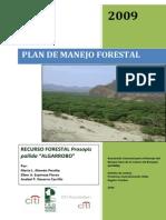 Plan Majeno Forestal Algarrobo Tumbes