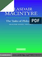 Alasdair Macintyre Tasks of Philosophy Copy