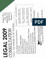 Legal Consultation 2009