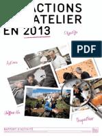 Rapport d'Activité 2013 de l'Atelier