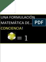 Una Formulacion Matematica de La Conciencia