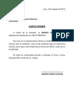 Carta Poder - Para Tramite Con Edelnor