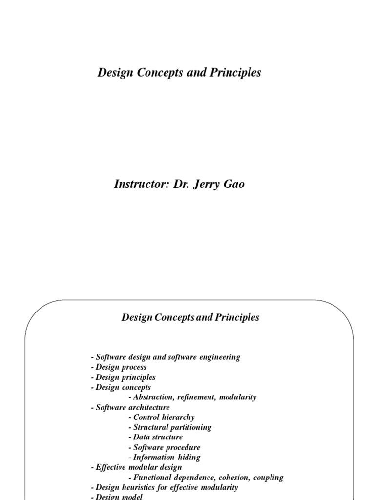 Design Concept In Software Engineering Modularity Software Development Process Free 30 Day Trial Scribd