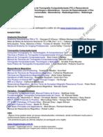 Lista de Livros TC RM Tecnicos Tecnologos Biomedicos