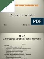 Amenajarea turistică a zonei montane Proiect de atestat