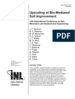Up-Scale of Bio-Mediated Soil Improvement