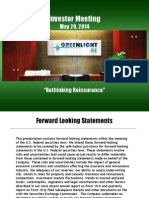 Greenlight Capital Rethinking Reinsurance