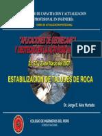 M-estabilización de Taludes de Roca