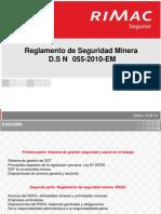 Reglamento Seguridad Minera DS N055 2010 EM 05032013
