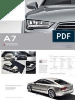 Audi A7 Sportback & S7 Sportback Catalogue (DE)
