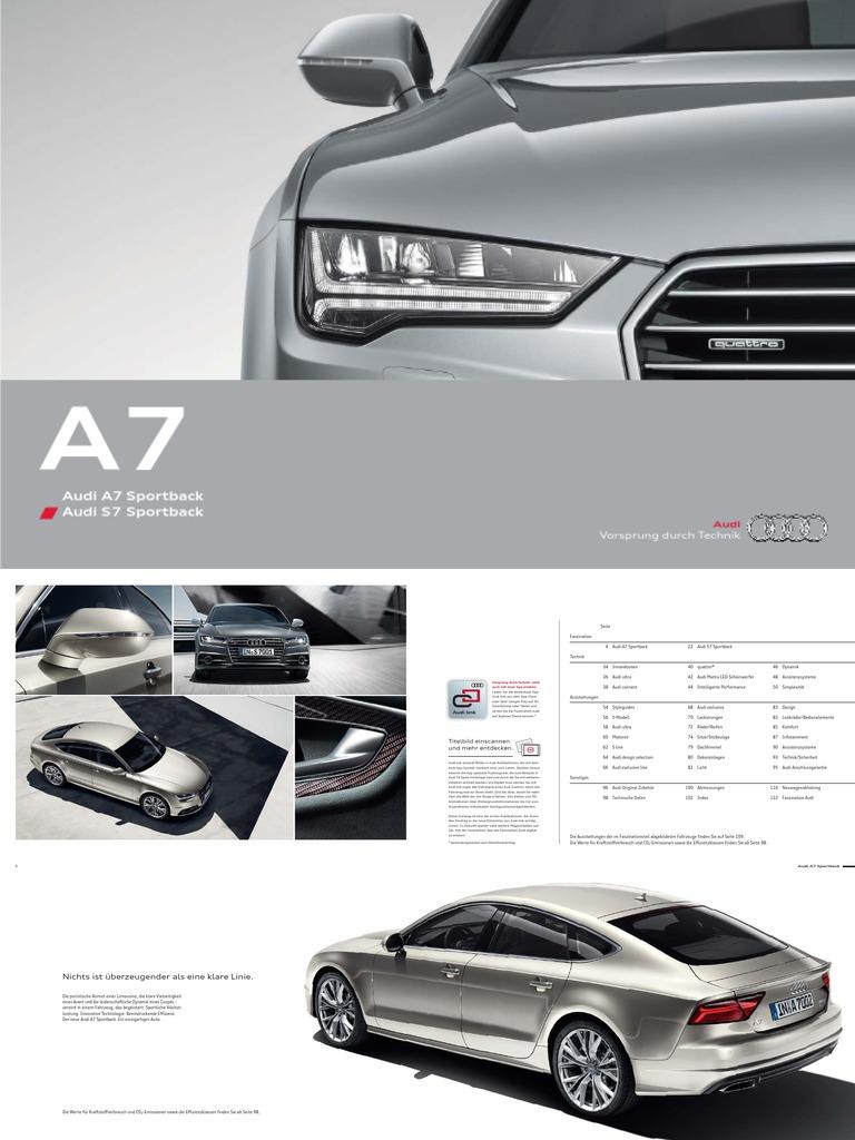 Audi A7 Sportback S7 Catalogue De Automobile