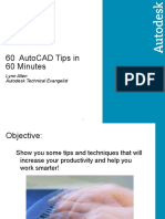 60 AutoCAD Tips in 60 Minutes Final