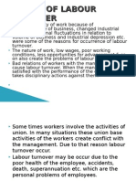 Causes of Labour Turnover