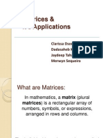 Final PPT-Matrices & Its Applications_presentation