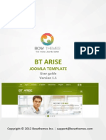 BT Arise User Manual v2.0