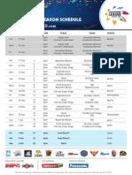 CLT 2013 Schedule