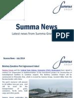 Summa Group News July