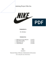 Marketing Project Nike Inc