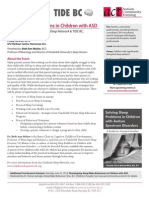 Sleep2Treat, Solving Sleep Problems in Children With ASD (June 20, Beth Ann Malow)