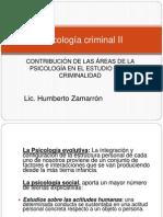 Psicología Criminal II Zamarron