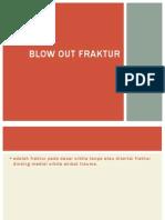 Blow Out Fraktur