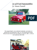 The History of Ford Automobiles