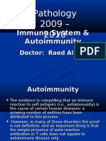 "pathology lectures ""Immunity and Auto-immune"" for dr. Raed Al-Ani"