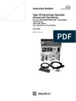 Circuit Breaker - Ground & Test Device Type VR Electrically Operated