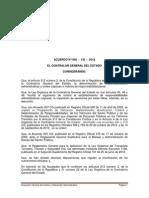 Acuerdo 005-CG-2014 Reglamento Para El Control Vehiculos Del Sector Publico