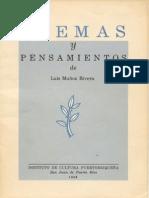 Poemas y pensamientos. Luis Muñoz Rivera