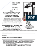 2014 Eva Rubin Memorial Window Box and Planter Contest