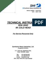 Cryocooler Technical Instruction, RDK-205D