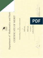 math certificates