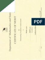 math certificates 2