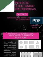 Proyecto Arquitectonico en Zonas Sismicas Capitulo 6 Karla Cajas